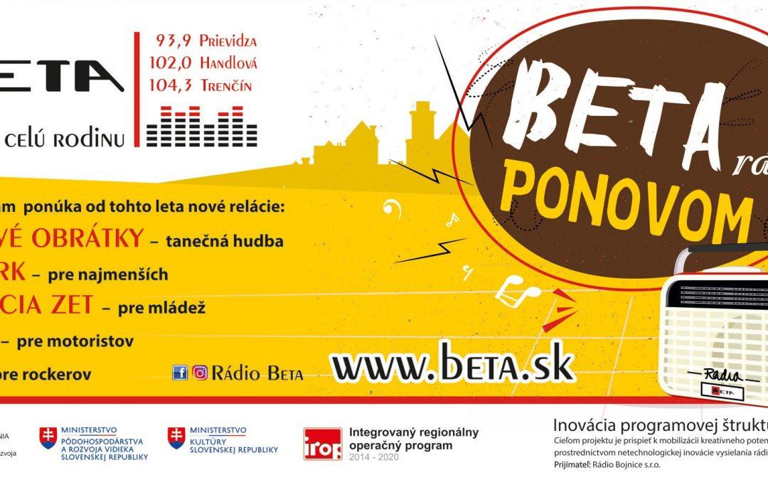 Rádio Beta – nové relácie